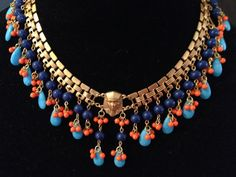 Vintage Miriam Haskell Necklace Signed Egyptian Revival Larry Vrba Rare Haute Couture Statement Piece on Etsy, $814.43 AUD