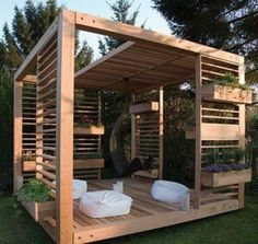Plant boxes on outside to help cool.. great idea..
