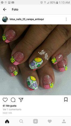 Nail Art Diy, Diy Nails, Color Block Nails, Pedicure, Mani Pedi, Fingernail Designs, Easter Nails, Fancy Nails, Nail Arts