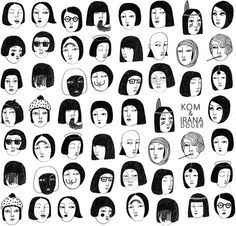 Irana Douer faces illustration