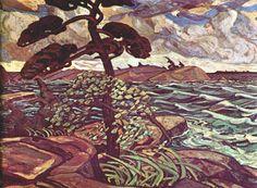 A September Gale Georgian Bay (1921) – Arthur Lismer (The Group of Seven)