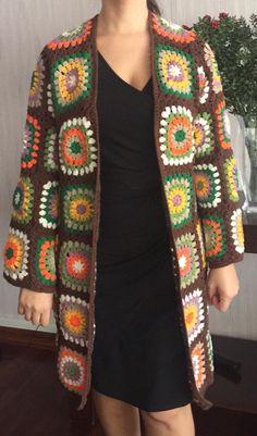 Crochet Coat, Crochet Jacket, Crochet Cardigan, Crochet Clothes, Crochet Yarn, Crochet Round, Crochet Granny, Stitch Patterns, Crochet Patterns