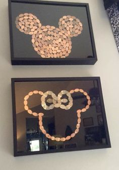 Disney World, press pennies Mickey Mouse, Minnie Mouse. Epcot, Animal Kingdom, Hollywood Studios – Paris Disneyland Pictures Source by tripleakcuties Disney Diy, Casa Disney, Disney Rooms, Disney Home Decor, Disney Crafts, Disney Love, Disney Mickey, Disney Ideas, Mickey Minnie Mouse
