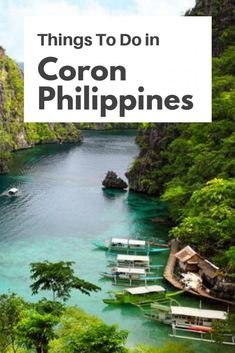 Things To Do in Coron Philippines You Should Try | Fun Things to Do in Coron, Palawan, Philippines  Coron is simply beautiful, and there are plenty of things to do in Coron, Palawan. There is beaches, jungles, wreck to dive and explore and hidden lakes. Check out these things to Do in Coron and make the most out of your time in Coron Island #coron #philippines #elnido #palawan