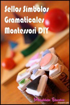 Genius! Montessori Grammar Symbol Stamps DIY