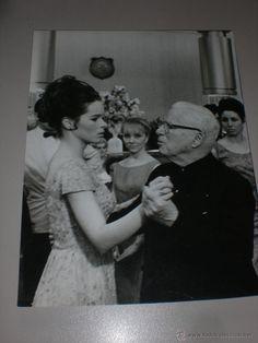 FOTO ORIGINAL DE CHARLES CHAPLIN y GERALDINE CHAPLIN