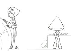 (gif) Pearl and Peridot ||| Steven Universe + Emperor's New Groove Fan Art by thetgartist on Tumblr