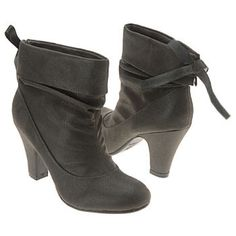Grey ankle boot Cute bow detail on back. In great shape. Worn only a few times. Hot kiss brand. 3 inch heel. Shoes Ankle Boots & Booties