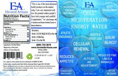 Super High Tech Bottled Energy Water Label Design by Salah