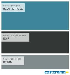 Castorama Nuancier Peinture - Mon harmonie Peinture  BLEU PETROLE satin de COLOURS Collection Bedroom Green, Green Bedrooms, Interior Paint Colors, Color Of Life, Colour Schemes, Feng Shui, Satin, Living Room Decor, Sweet Home