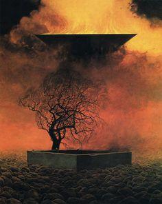 Zdzisław Beksiński - Bez tytułu / UntitledLike Page May 3 FOR TODAY - Untitled - 1976, 87 x 73 cm (MHS) #Beksinski