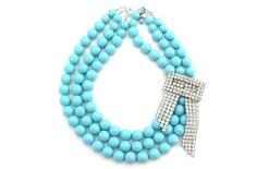 Statement wedding necklaces- something blue