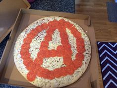Avengers pizza with pepperoni