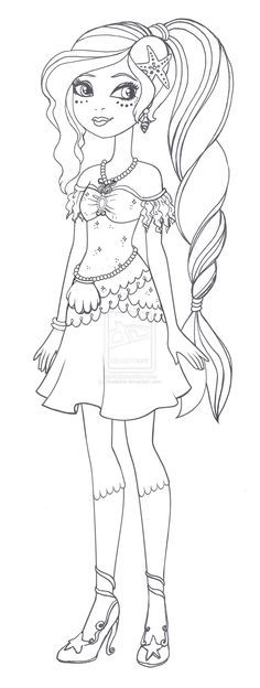Ever After High Apple White Coloring Pages Ever after high nariel miriam