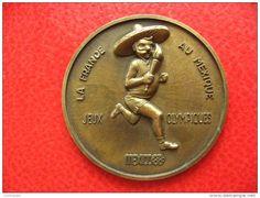 Médaile Jeux Olympiques Mexico 1968 - La France au Mexique - 55g 63mm