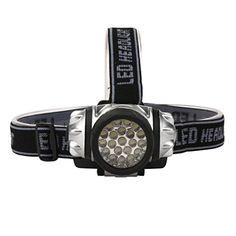 Alonea 21LED Headlamp Headlight Flashlight Head Light Lamp Torch Black ** See this great product.