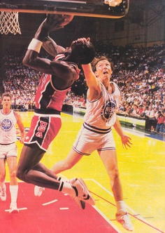 Olympic Trials at Milwaukee NBA All-Stars Dunleavy Foul (1984/85)