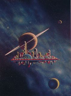 The nice retro style artwork of Morris Scott Dollens. Images from Future Life magazine, early 1980s