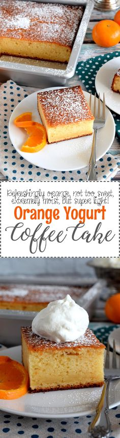 Orange Yogurt Coffee Cake - Simple ingredients and flavours are what's needed to prepare the ultimate coffee cake. Orange Yogurt Coffee Cake is such a recipe. Brew a hot cup of coffee and find a quiet place to enjoy a relaxing moment without distraction. This cake deserves nothing less.