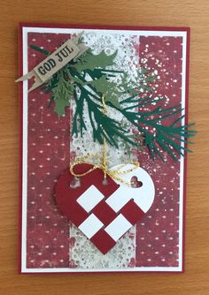 Julekort Christmas Stockings, Christmas Diy, Wine Bottle Tags, December Daily, Paper Cards, Winter Season, Gift Tags, Cardmaking, Diy And Crafts