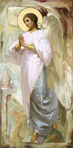 Angel by John Melhuish Strudwick Angel Pictures, Angel Images, Catholic Art, Religious Art, Holy Art, Seraph Angel, I Believe In Angels, Angels Among Us, Gif Animé