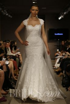Brides: Pronovias - 2014 | Bridal Runway Shows | Wedding Dresses and Style | Brides.com. Beautiful silhouette!