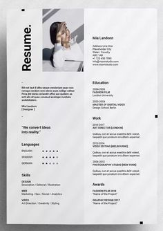 Voom Resume by moscovita on Envato Elements Voom Resume Template InDesign INDD - and US Letter Si Mise En Page Portfolio Mode, Book Portfolio, Design Portfolio Layout, Portfolio Resume, Online Portfolio Design, Modeling Portfolio, Portfolio Examples, Indesign Resume Template, Cv Design Template