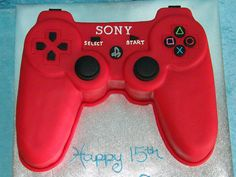 Playstation controller for Steve's grooms cake. Black of course.. wouldn't have to be very big considering not inviting many people.