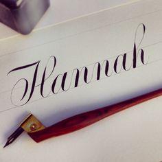 hannah | #calligraphy