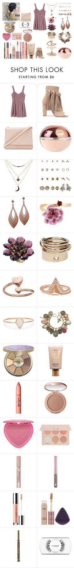 """""""Untitled #961"""" by asiebenthaler ❤ liked on Polyvore featuring Monki, Chloé, Kate Spade, Donna Karan, Charlotte Russe, Les Néréides, Michal Negrin, Valentino, Alex and Ani and Lucky Brand"""