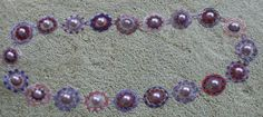 Pearly Mosaic Purple. Pattern from beadingdaily.com by Lisa Kan