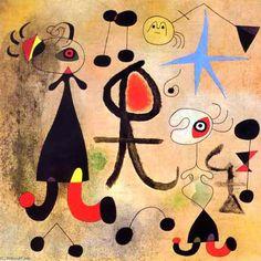 """""""Esperanza"""", óleo de Joan Miro (1893-1983, Spain)"""
