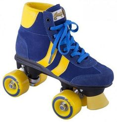 Rookie Retro Roller Skates - Blue/Yellow. Now these are amazing. OLD SkOOL