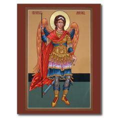 Shop Archangel Michael Prayer Card created by holyicons. Wedding Postcard, Archangel Michael, Prayer Cards, Sacred Art, Photo Postcards, Postcard Size, Paper Texture, Cool Photos, Prayers