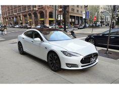 2013 Tesla Model S Performance Model White Over Bl