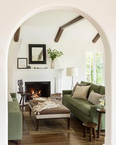 Spring from our Hillsborough project #jutehome #mediterranean #ceilingbeams Lisa Romerein