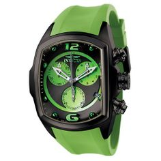 Invicta Men's 6725 Lupah Collection Chronograph Black Ion-Plated Light Green Rubber Watch Invicta. Save 67 Off!. $229.00. Water-resistant to 330 feet (100 M). Precise Swiss-quartz movement. Chronograph functions with 60 second, 30 minute and 1/10 of a second sub-dials; date function. Black and light green dial with light green hour markers and arabic numerals at 12:00 and 6:00; light green sub-dials; luminous hands; black ion-plated crown and pushers. Durable flame-fusion crystal; brushed…