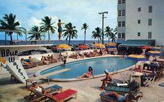 & the Ocean Carnegie Hotel Corporation Lottie Binz, President postmarked 1955 Vintage Diner, Vintage Hotels, Vintage Travel, Vintage Party, California Pools, Miami Beach Hotels, Patio Plans, Retro, Vintage Florida