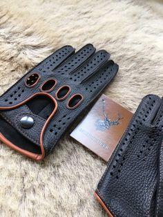 Conducción guantes edición especial hombres de por leathergloves4u