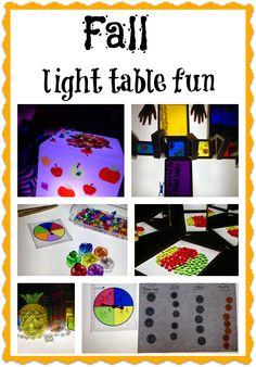 Fall light table fun