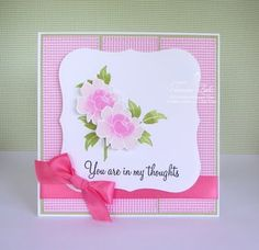 """A card I created using the A Muse Studio stamp set """"Wild Rose""""."""