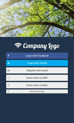 WiFi login page for hotel or cafe.