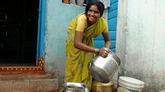Did you know that millions of women and children spend several hours each day collecting water from distant, often polluted sources. This is time not spent working at an income-generating job, caring for family members, or attending school. (image of woman washing her water vessels by waterdotorg, via Flickr) @Water.org