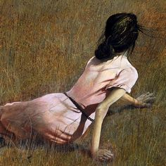 Christina's world (detail) by Andrew Wyeth