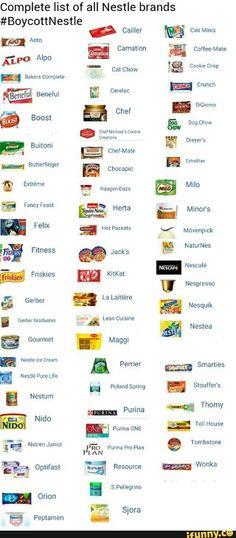 If you boycott Nestle boycott these too