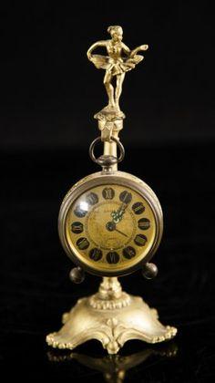 Europa Figural Bronze Clock