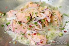 Receita de Ceviche de salmão em Peixes, veja essa e outras receitas aqui!