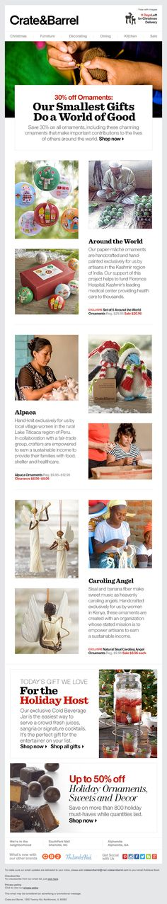 Crate & Barrel Ornaments-That-Do-A-World-of-Good