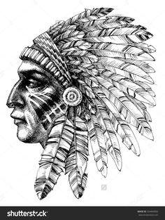 Resultat De Recherche D Images Pour Indien D Amerique De Profil Native American Tattoos Indian Tattoo Design Indian Tattoo