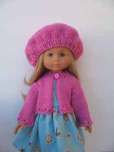 Corolle Les Cheries Doll Cardigan and Beret by PachomDollBoutique, $18.99